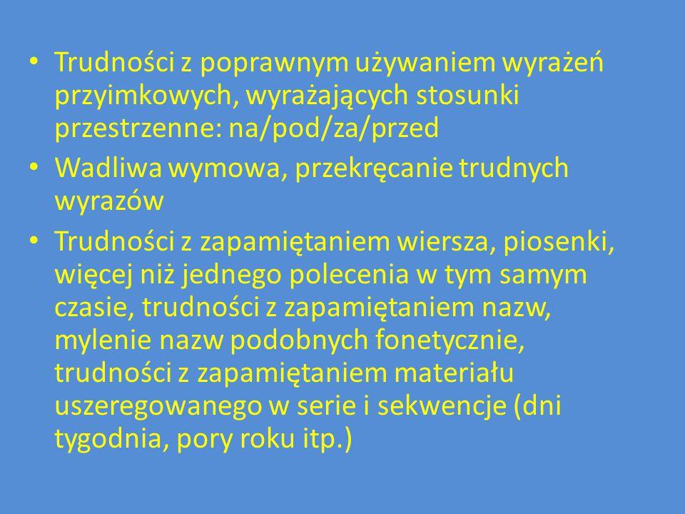 Trudności z poprawnym używaniem wyrażeń przyimkowych, wyrażających stosunki przestrzenne: na/pod/za/przed