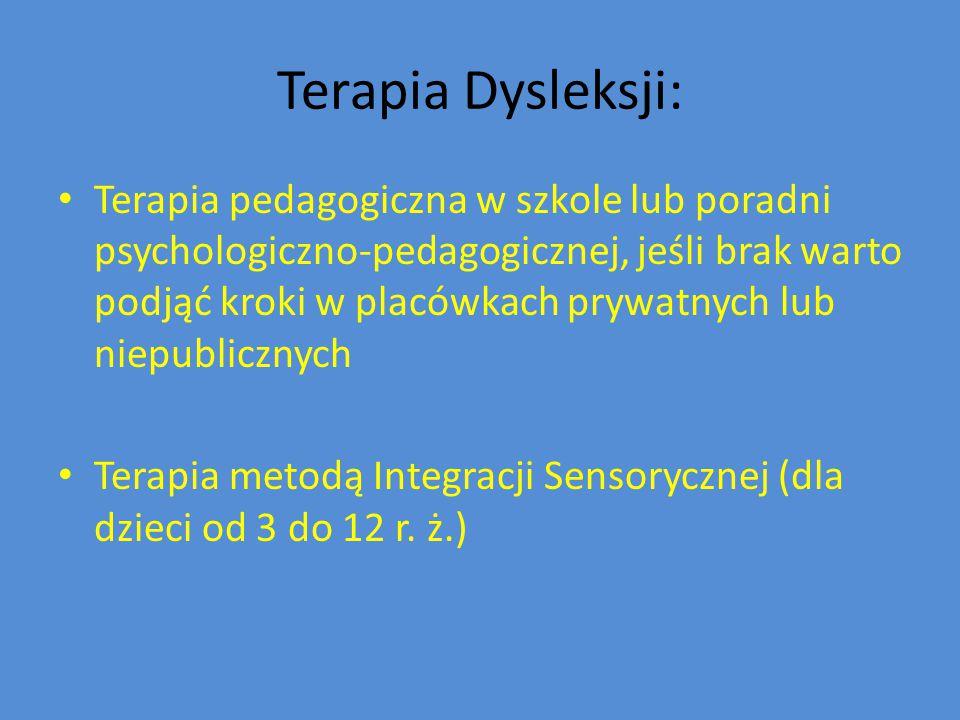 Terapia Dysleksji: