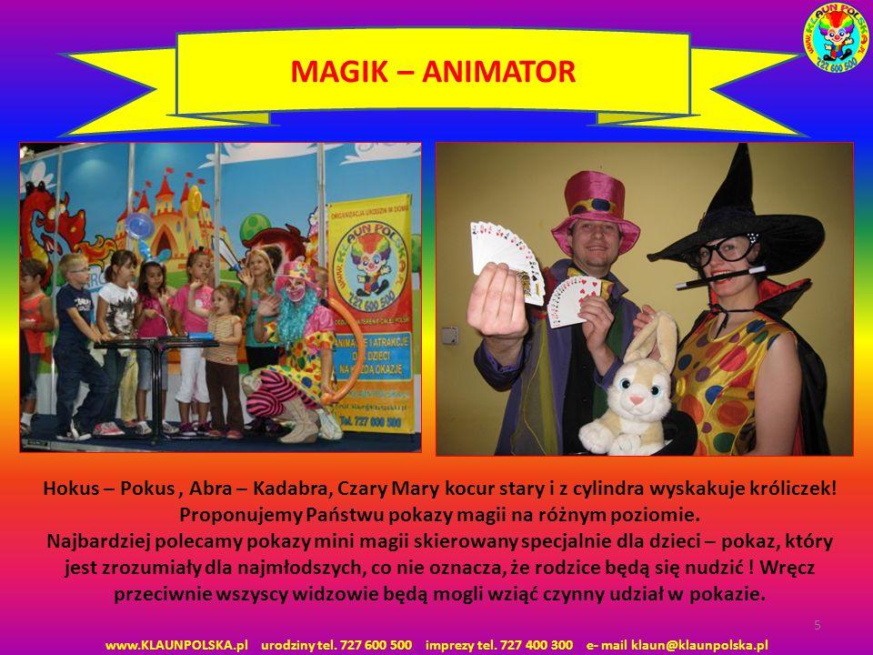 MAGIK – ANIMATOR Hokus – Pokus , Abra – Kadabra, Czary Mary kocur stary i z cylindra wyskakuje króliczek!