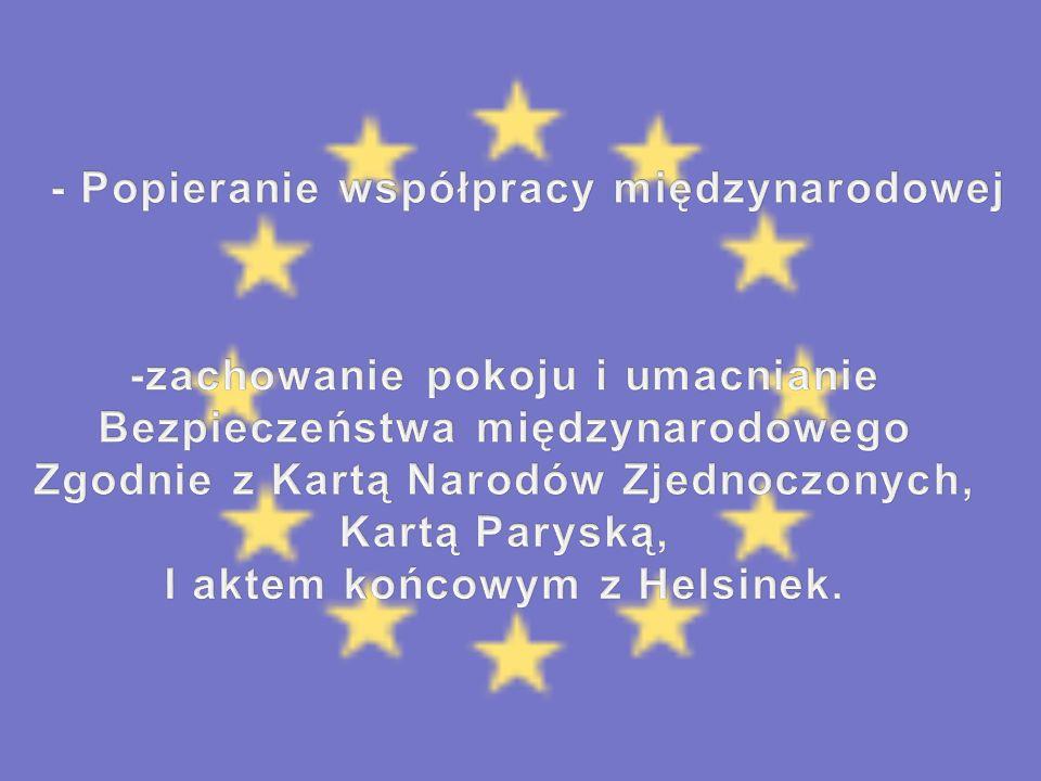 - Popieranie współpracy międzynarodowej