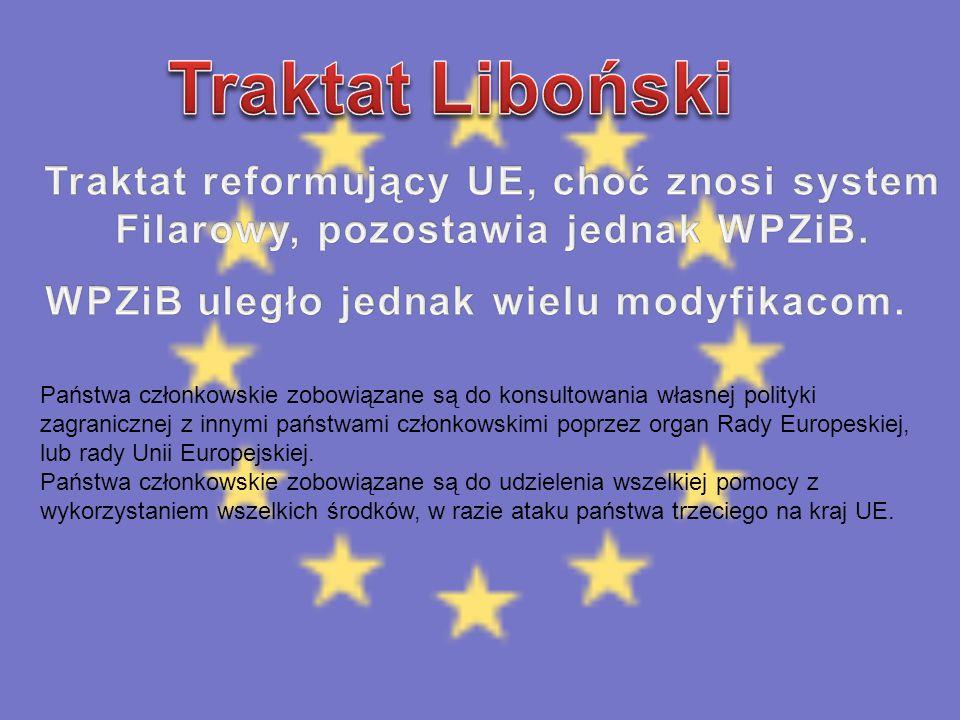 Traktat Liboński Traktat reformujący UE, choć znosi system