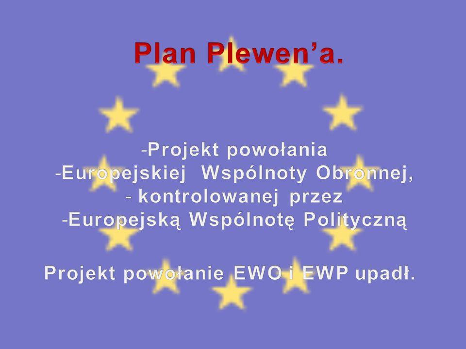 Plan Plewen'a. Projekt powołania Europejskiej Wspólnoty Obronnej,