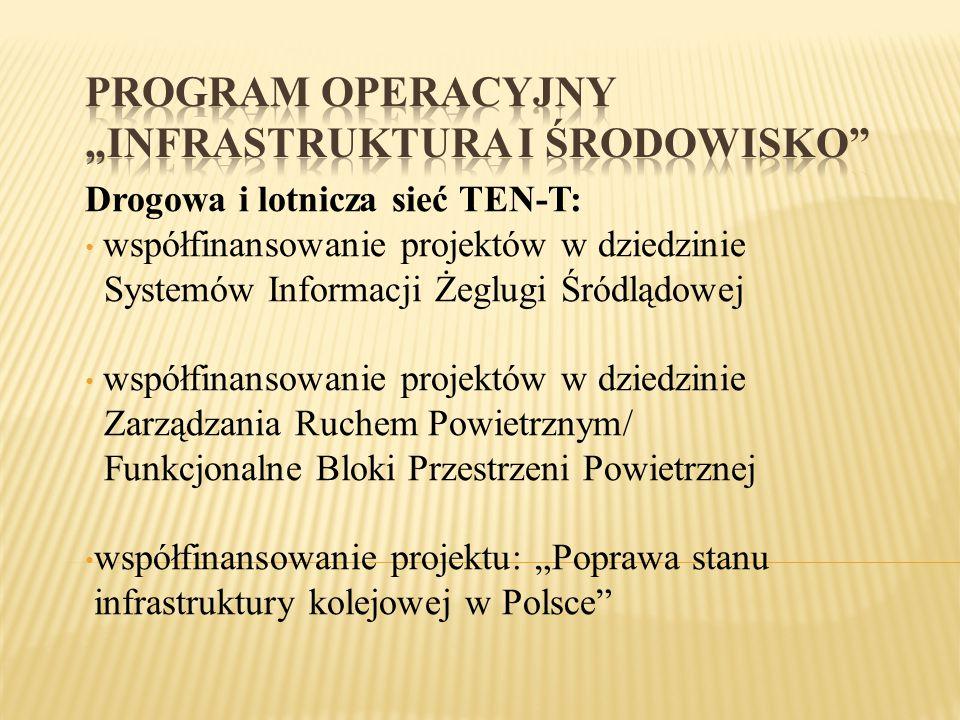"""PROGRAM OPERACYJNY """"INFRASTRUKTURA I ŚRODOWISKO"""