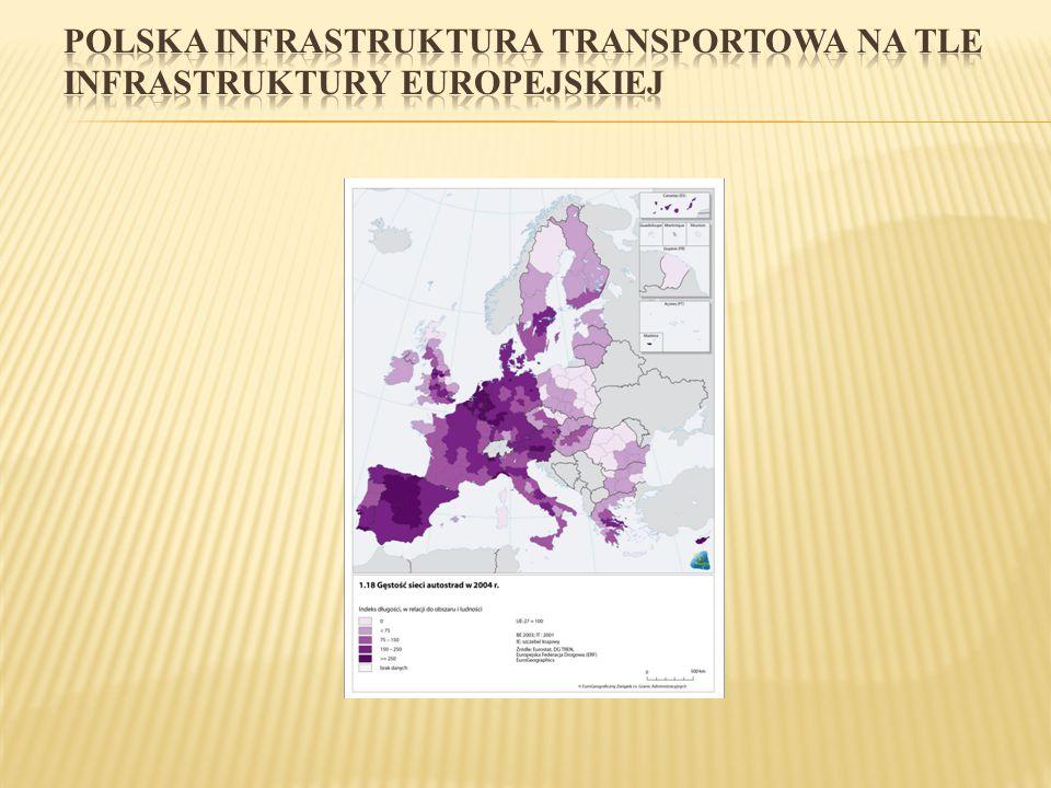POLSKA INFRASTRUKTURA TRANSPORTOWA NA TLE INFRASTRUKTURY EUROPEJSKIEJ