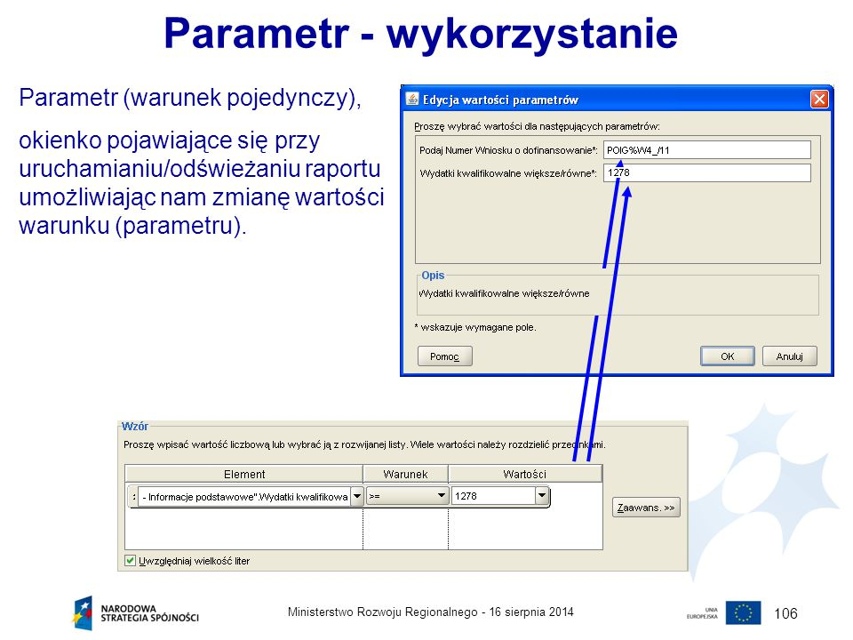Parametr - wykorzystanie