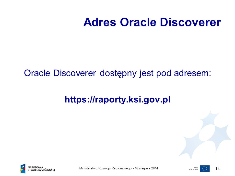 Adres Oracle Discoverer