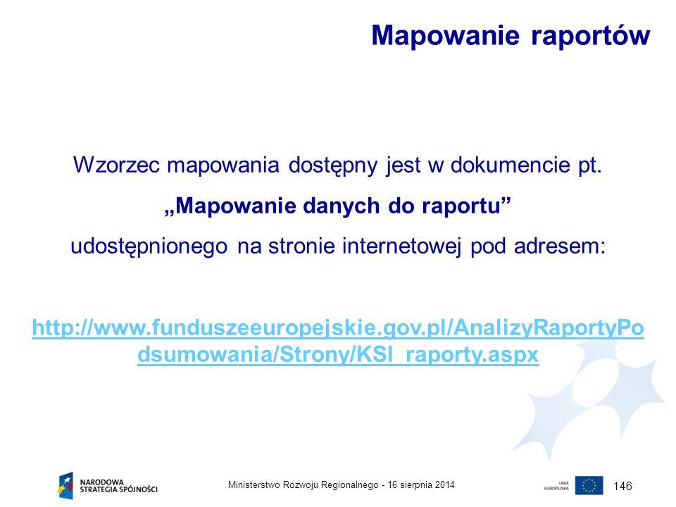 """""""Mapowanie danych do raportu"""