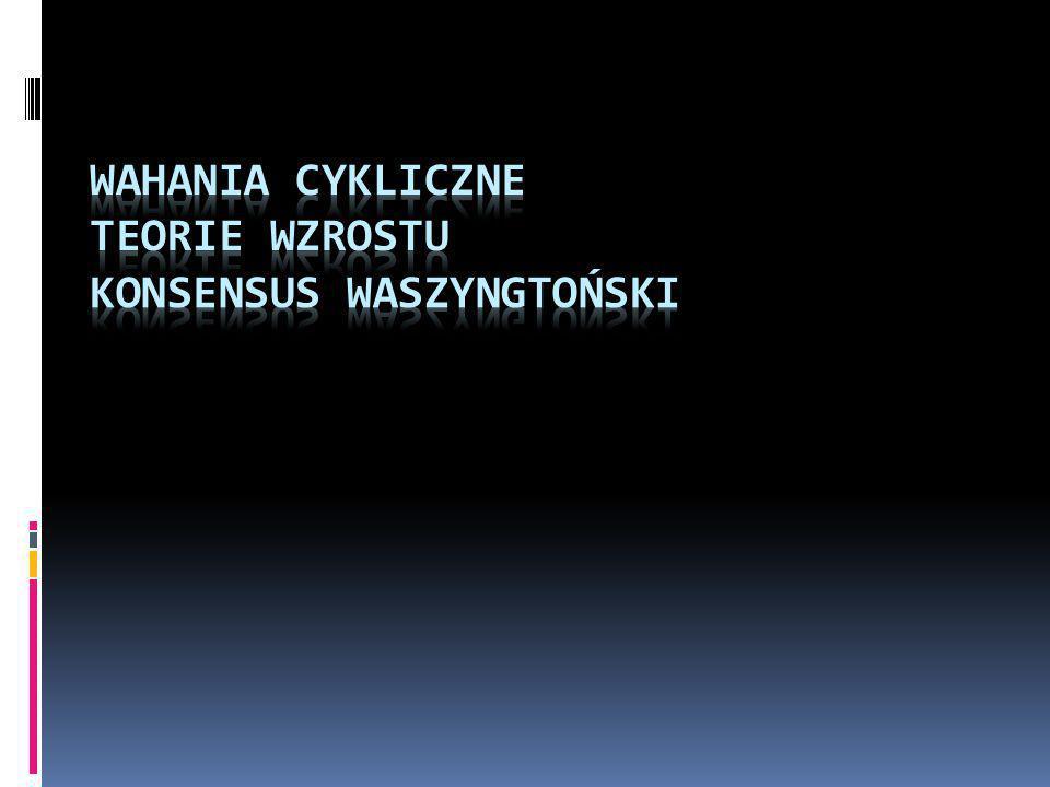 Wahania cykliczne Teorie wzrostu Konsensus Waszyngtoński