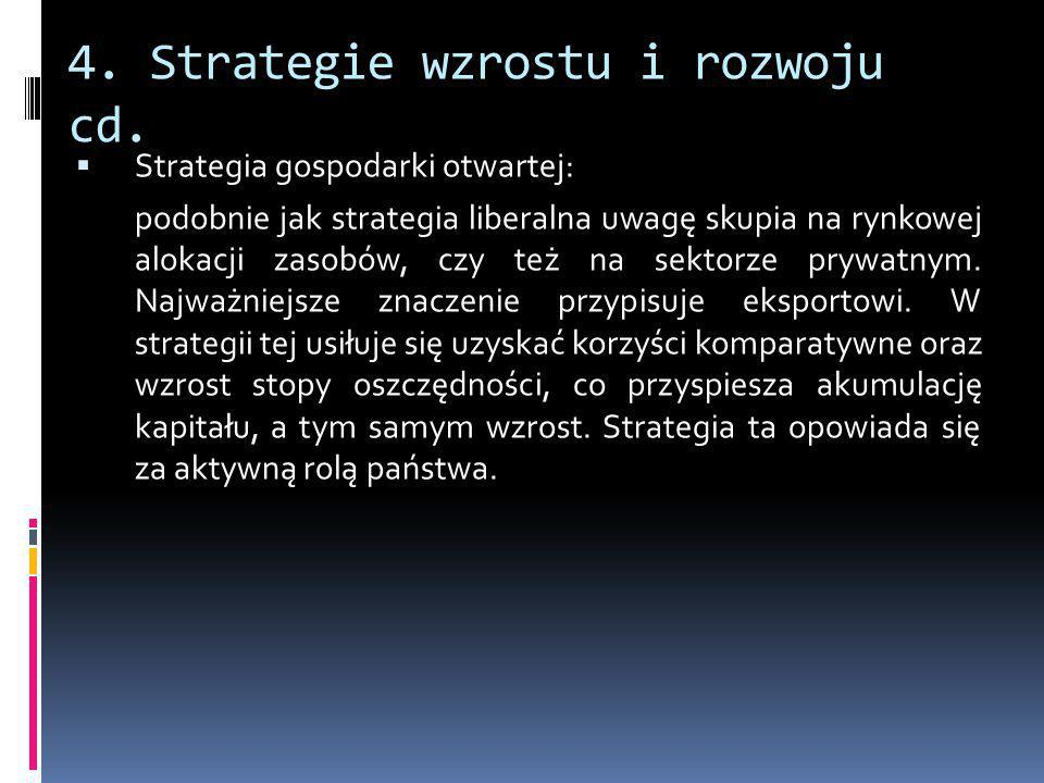 4. Strategie wzrostu i rozwoju cd.
