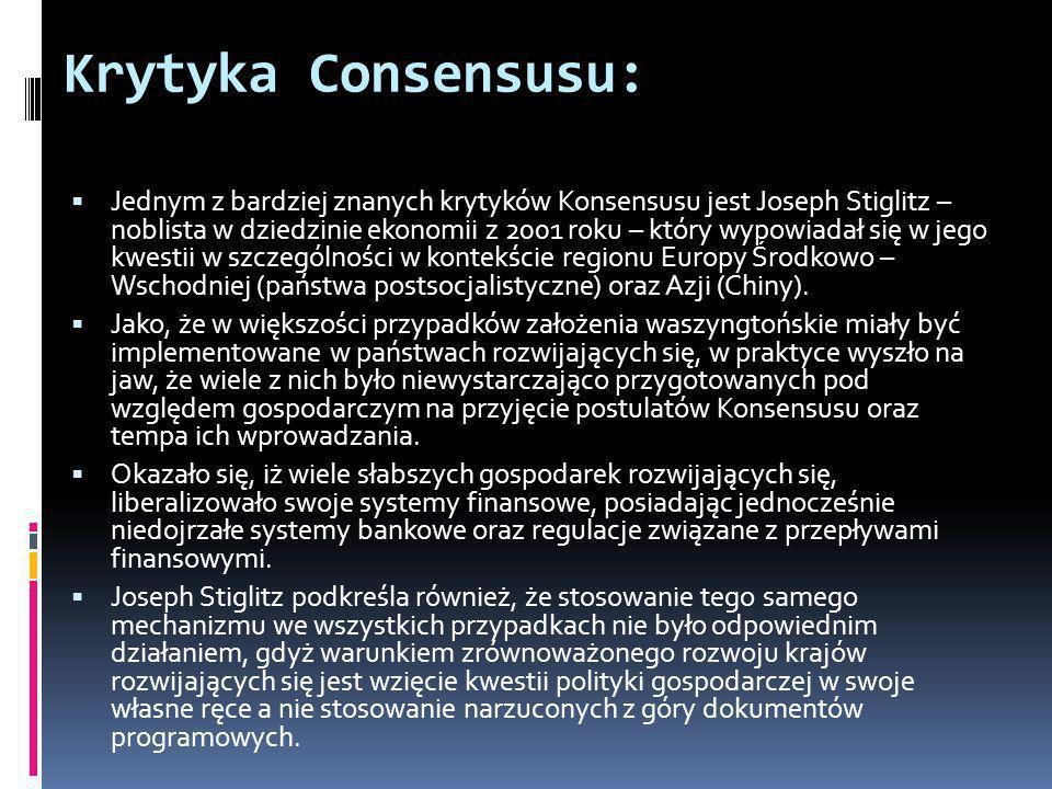 Krytyka Consensusu: