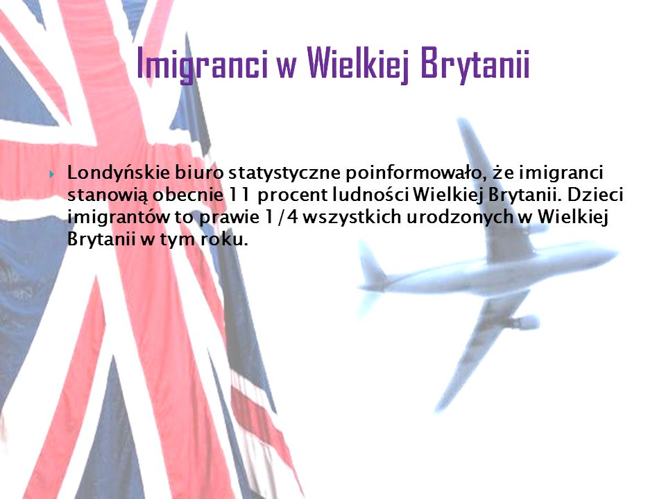 Imigranci w Wielkiej Brytanii