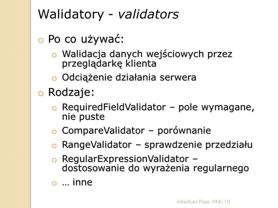 Walidatory - validators