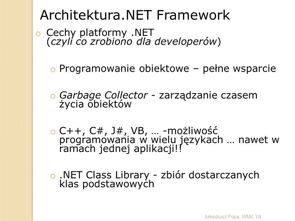 Architektura.NET Framework