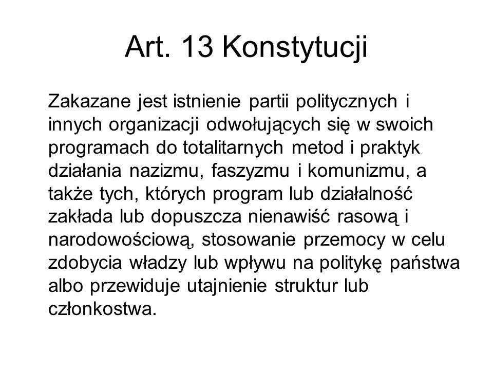 Art. 13 Konstytucji