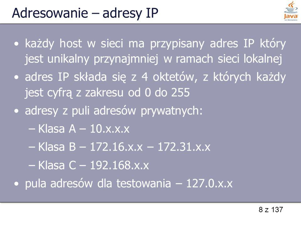Adresowanie – adresy IP
