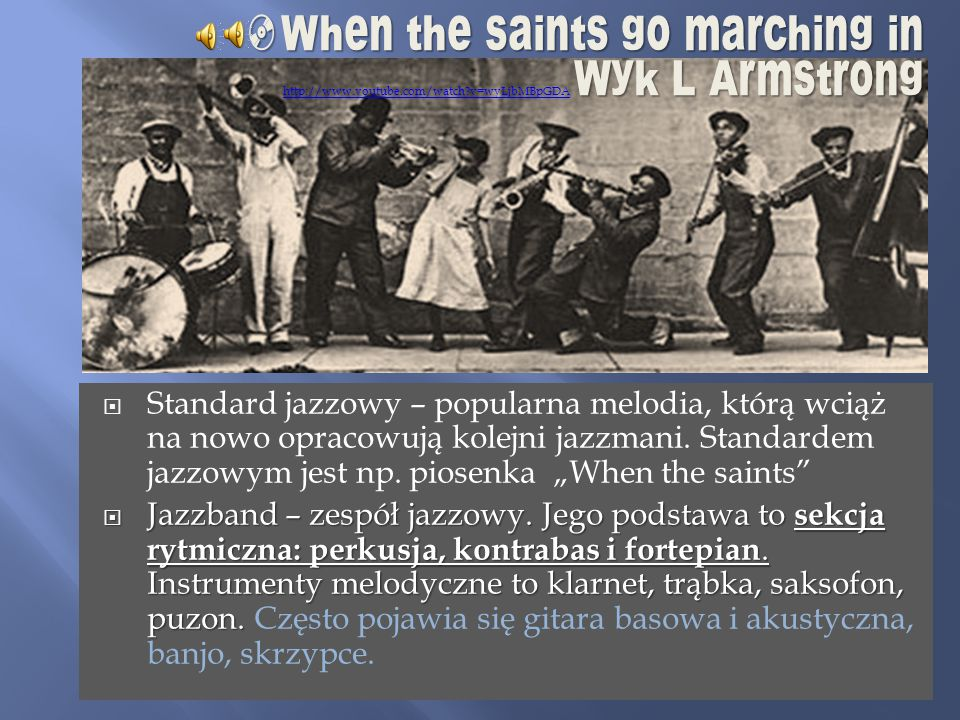 When the saints go marching in