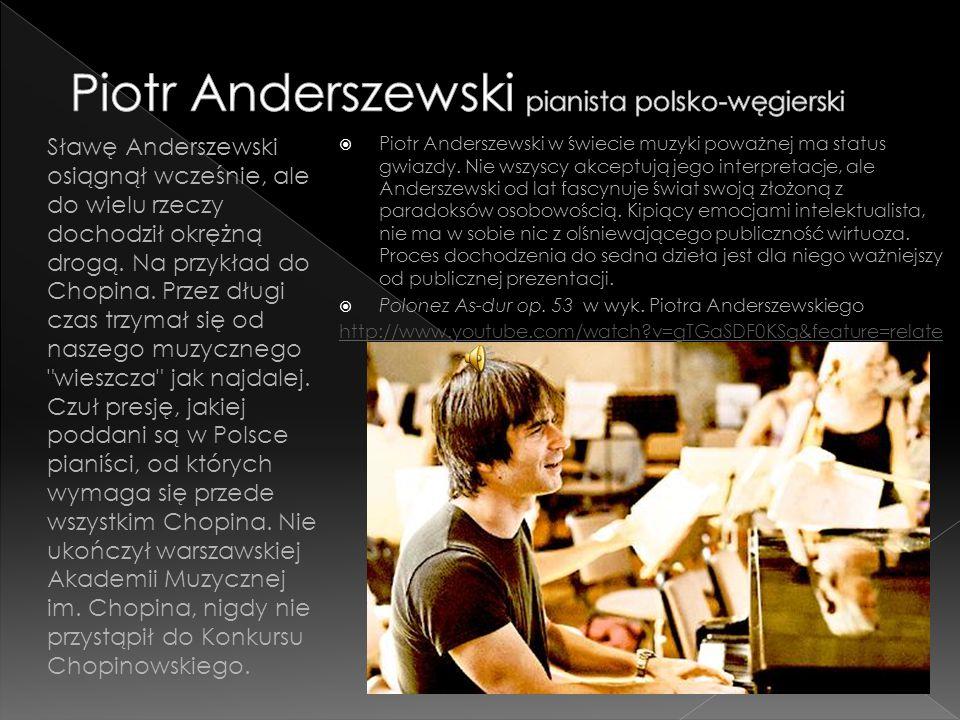 Piotr Anderszewski pianista polsko-węgierski