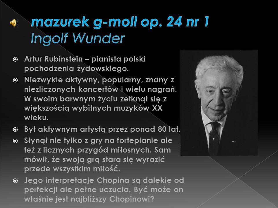 mazurek g-moll op. 24 nr 1 Ingolf Wunder