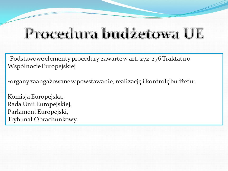 Procedura budżetowa UE