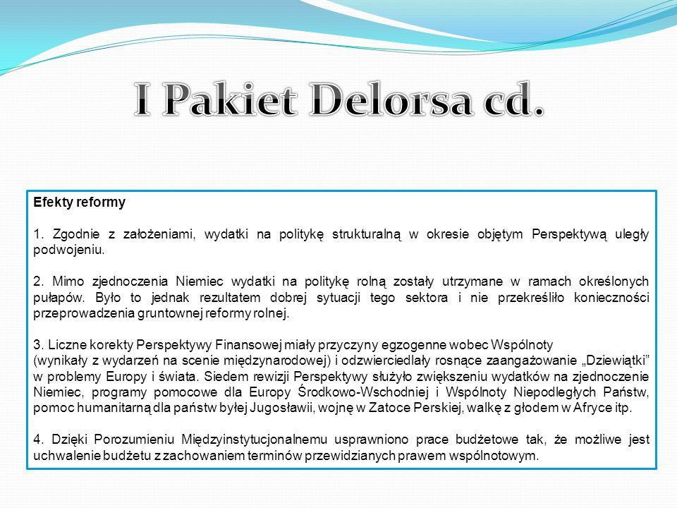 I Pakiet Delorsa cd. Efekty reformy