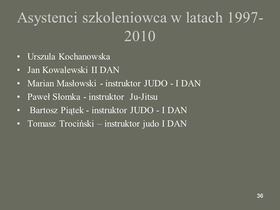 Asystenci szkoleniowca w latach 1997-2010