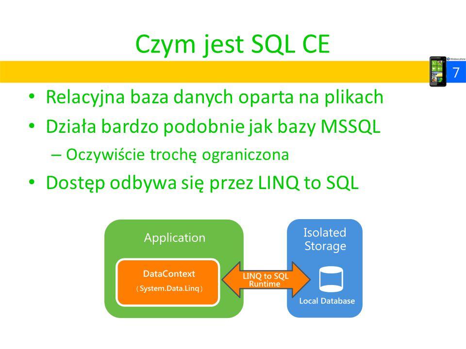 Czym jest SQL CE Relacyjna baza danych oparta na plikach