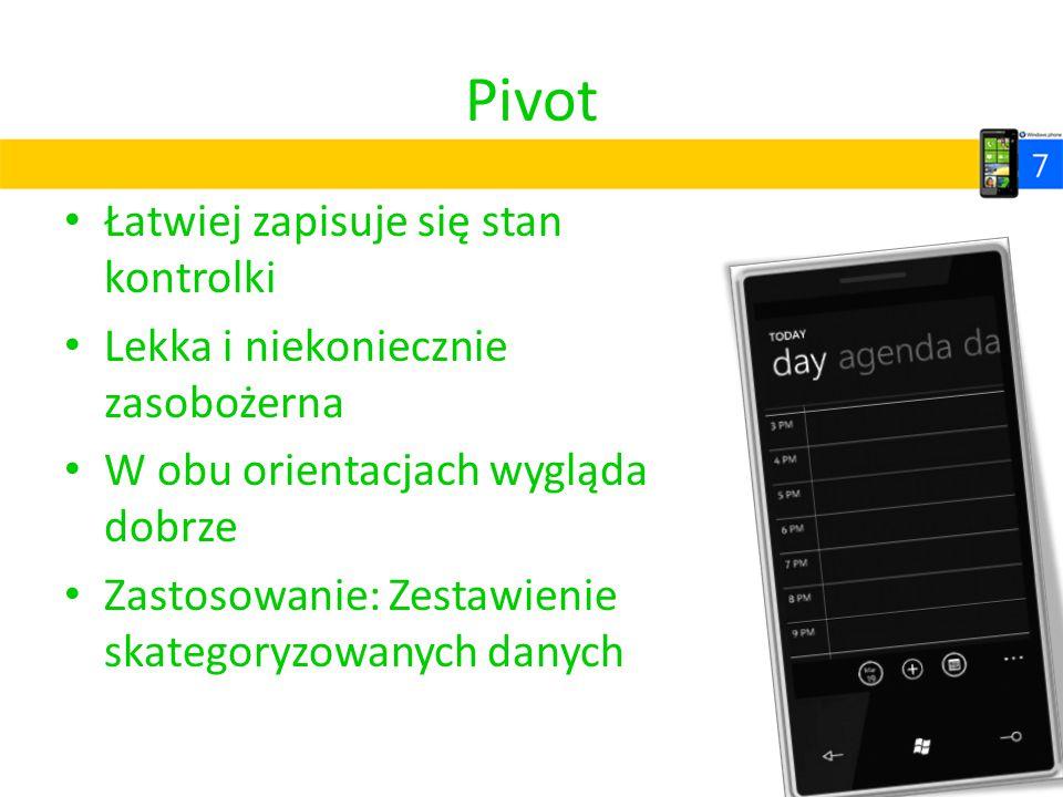 Pivot Łatwiej zapisuje się stan kontrolki