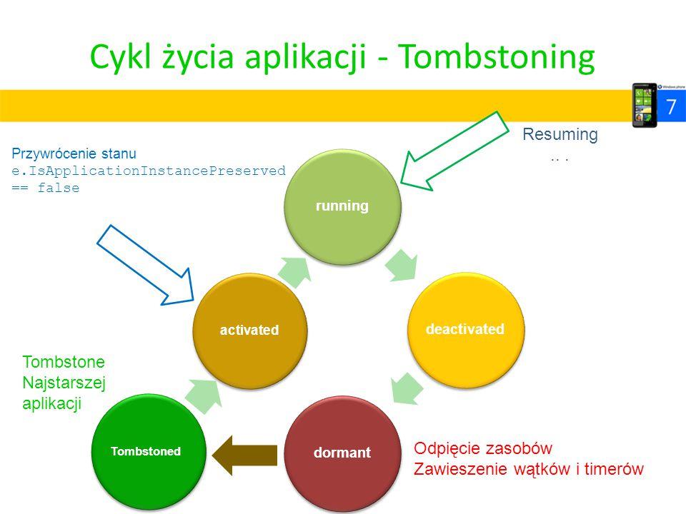 Cykl życia aplikacji - Tombstoning