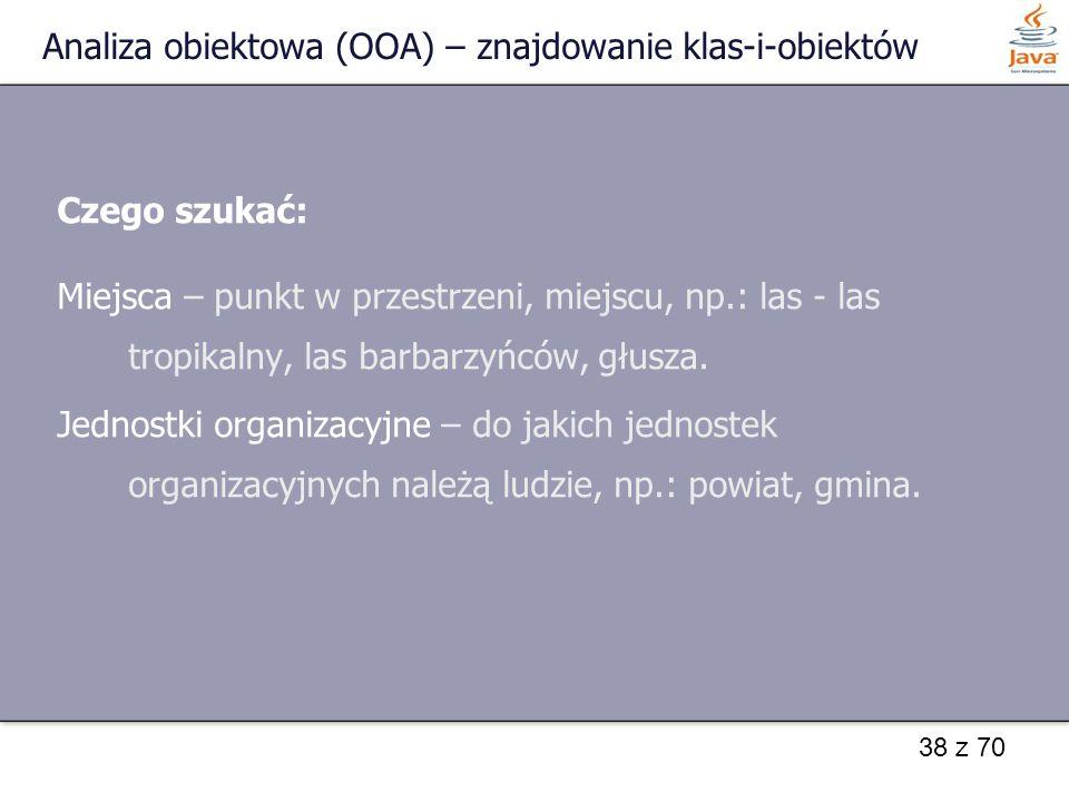 Analiza obiektowa (OOA) – znajdowanie klas-i-obiektów