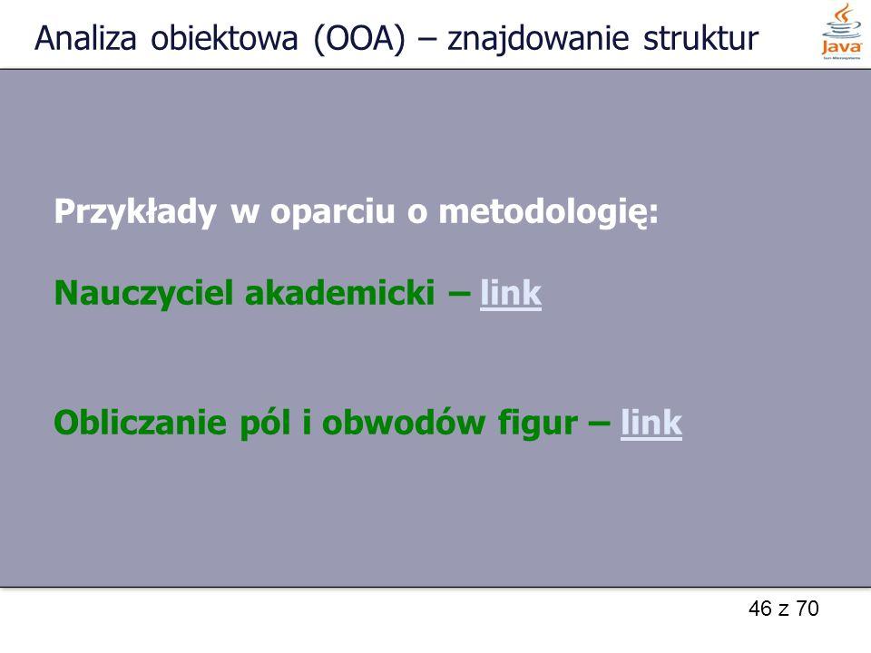 Analiza obiektowa (OOA) – znajdowanie struktur