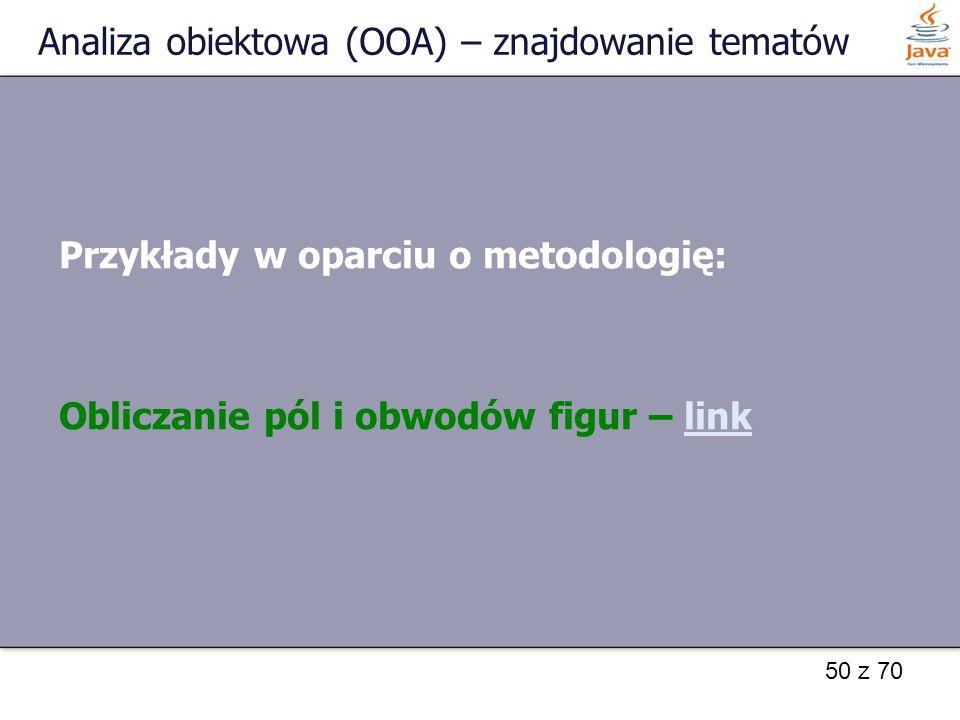 Analiza obiektowa (OOA) – znajdowanie tematów