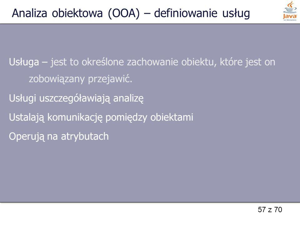 Analiza obiektowa (OOA) – definiowanie usług