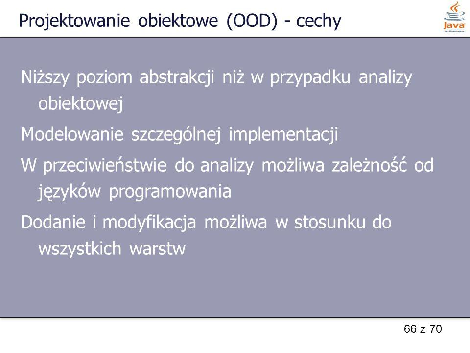 Projektowanie obiektowe (OOD) - cechy