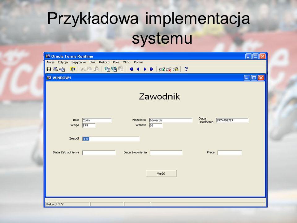 Przykładowa implementacja systemu