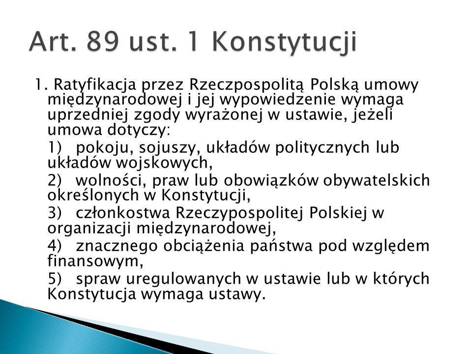 Art. 89 ust. 1 Konstytucji
