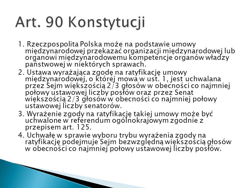 Art. 90 Konstytucji
