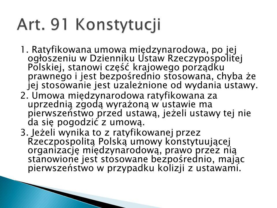 Art. 91 Konstytucji