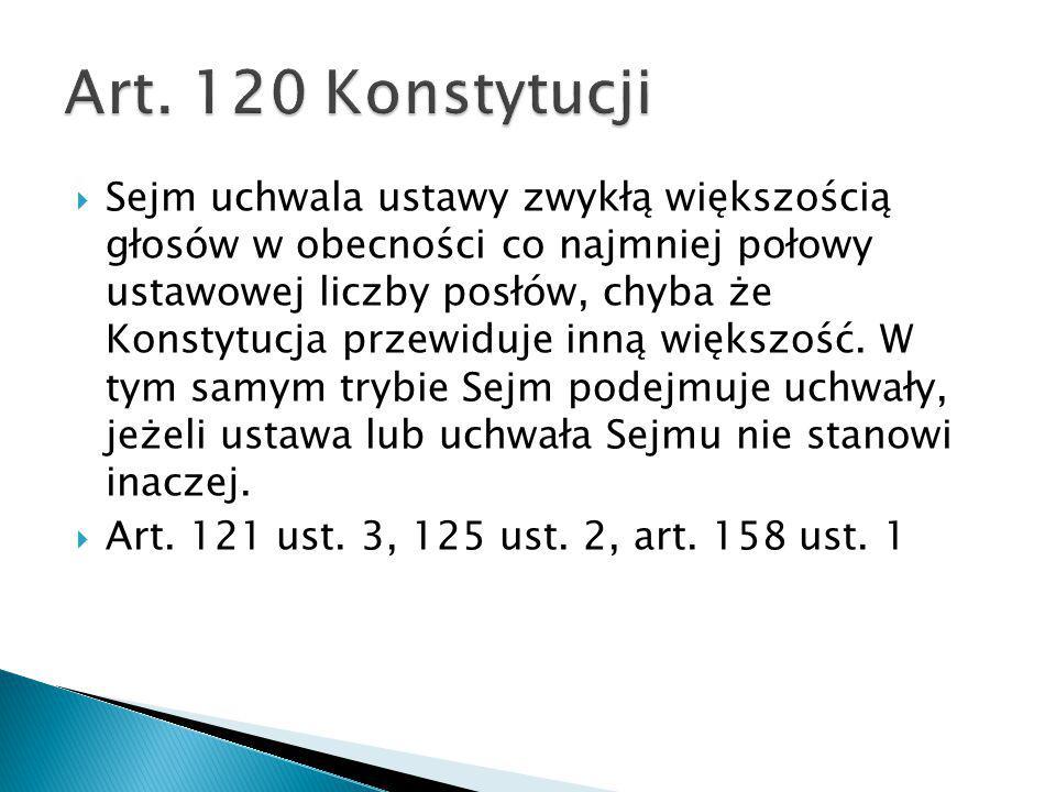 Art. 120 Konstytucji