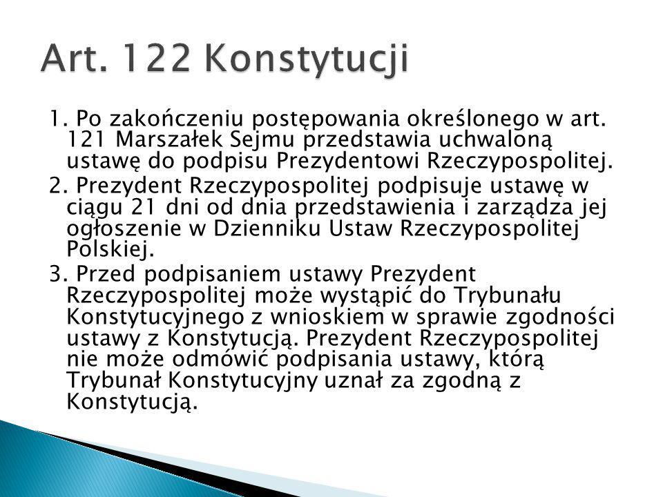 Art. 122 Konstytucji