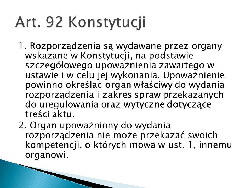 Art. 92 Konstytucji