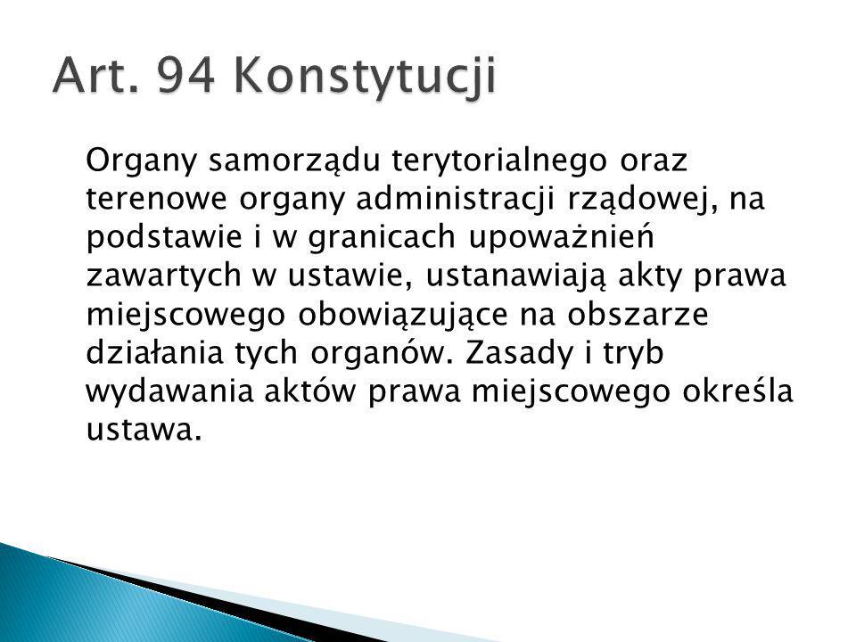Art. 94 Konstytucji