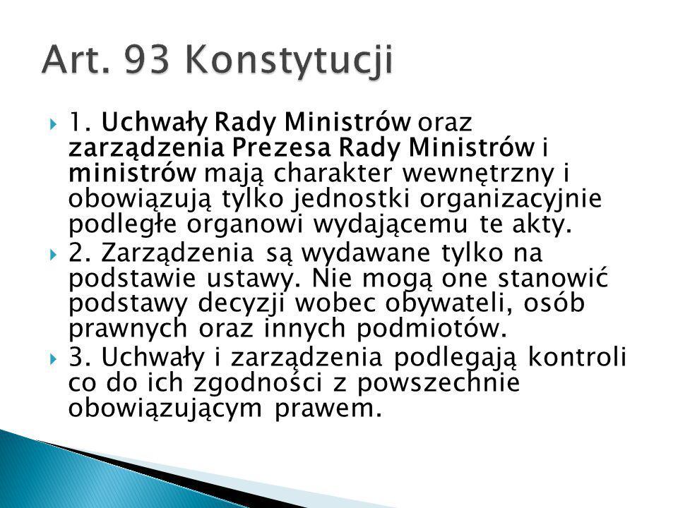 Art. 93 Konstytucji