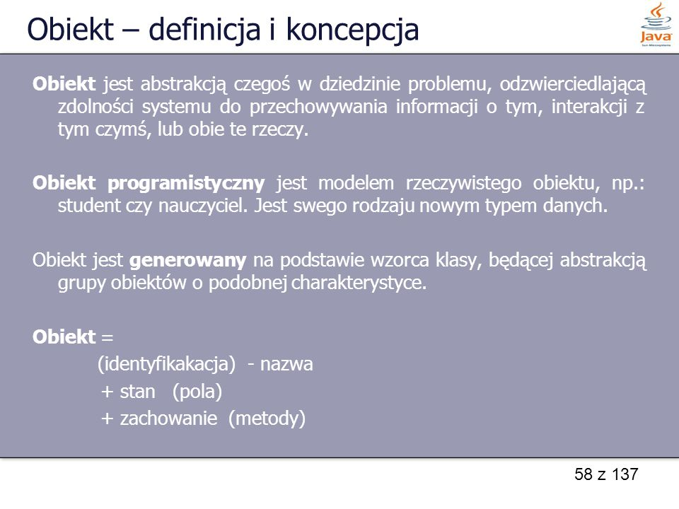 Obiekt – definicja i koncepcja