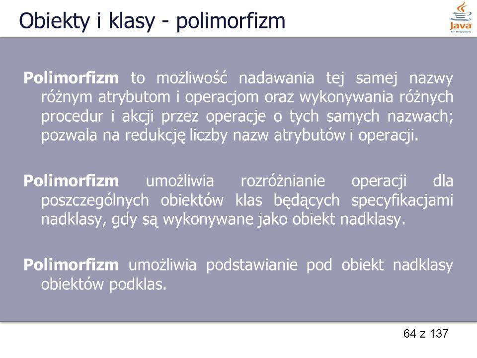 Obiekty i klasy - polimorfizm