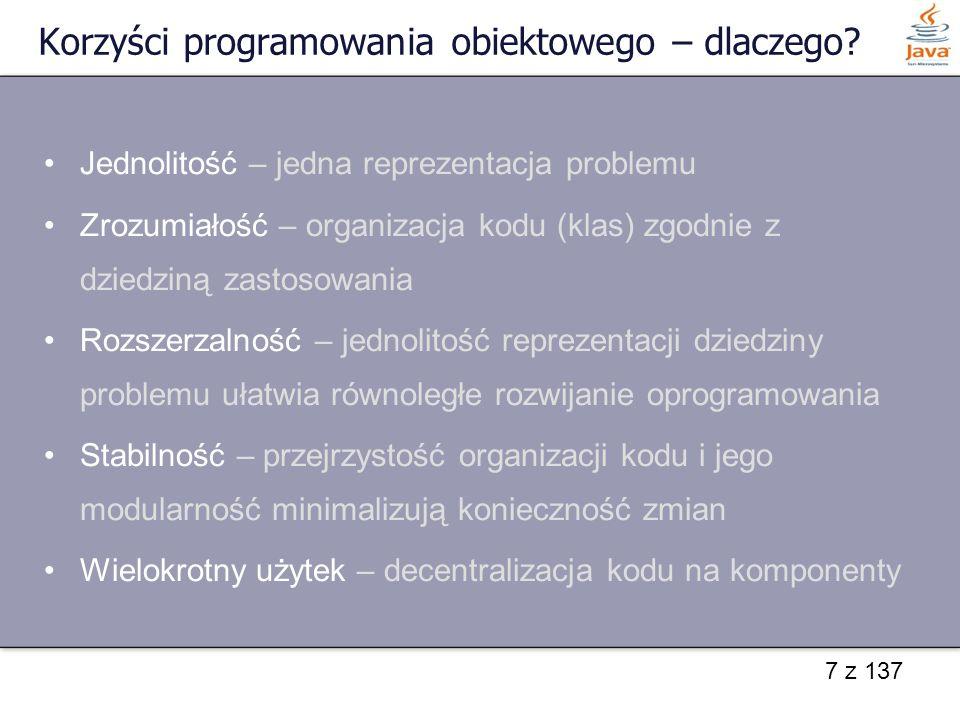 Korzyści programowania obiektowego – dlaczego
