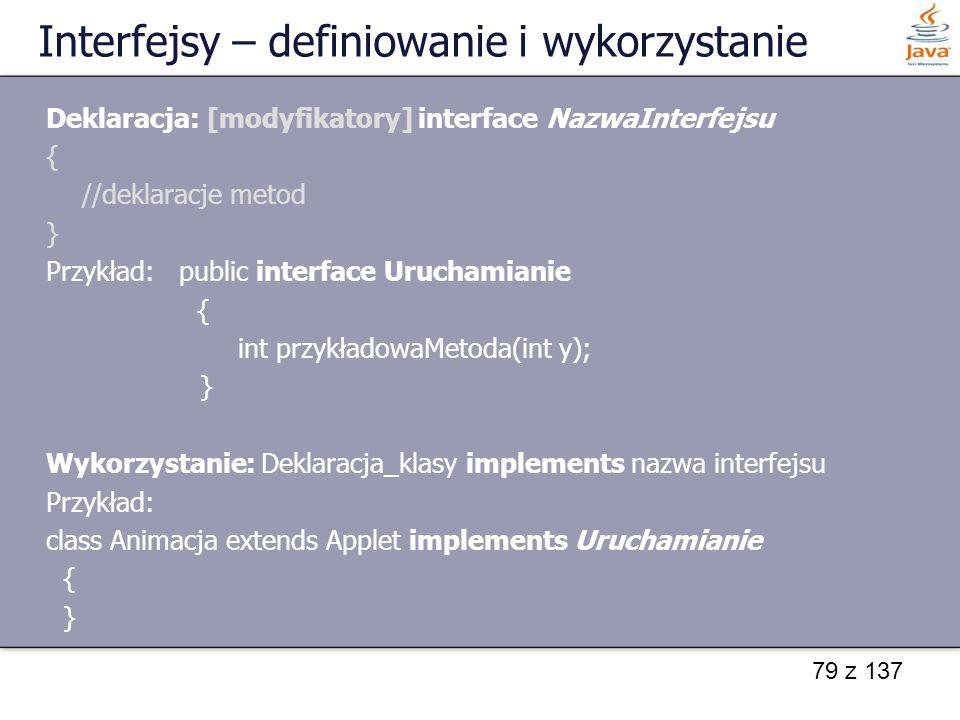 Interfejsy – definiowanie i wykorzystanie