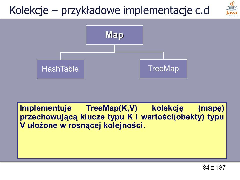 Kolekcje – przykładowe implementacje c.d