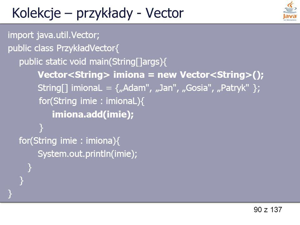 Kolekcje – przykłady - Vector