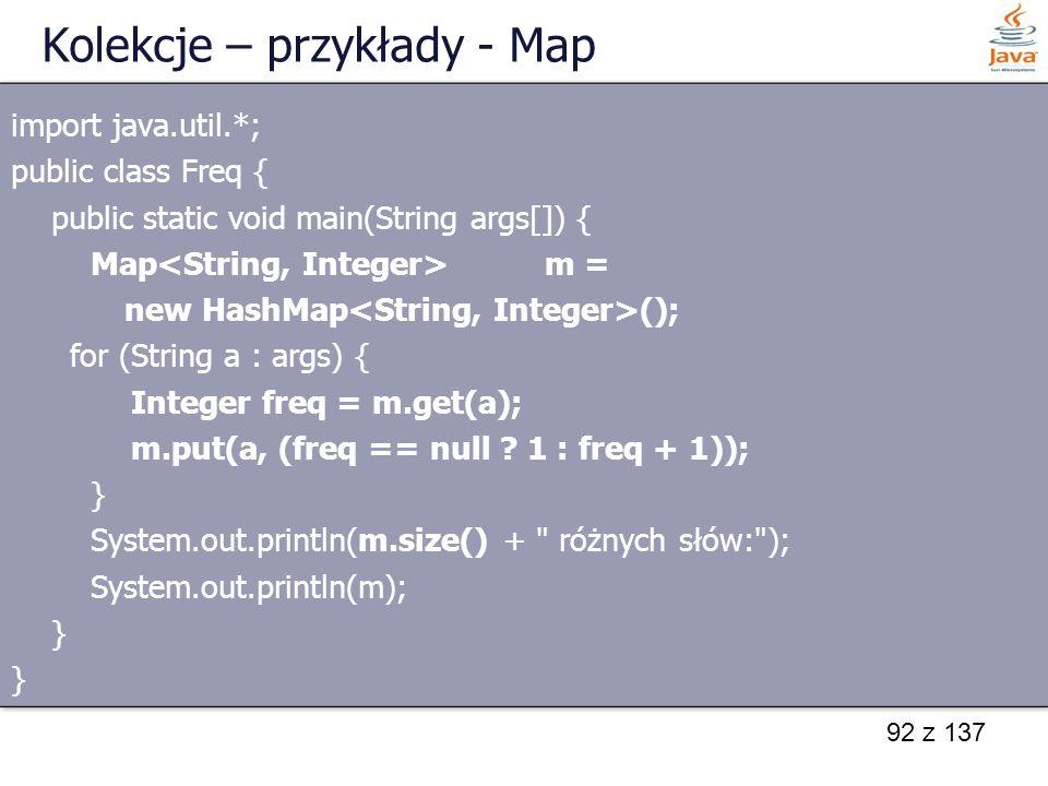Kolekcje – przykłady - Map
