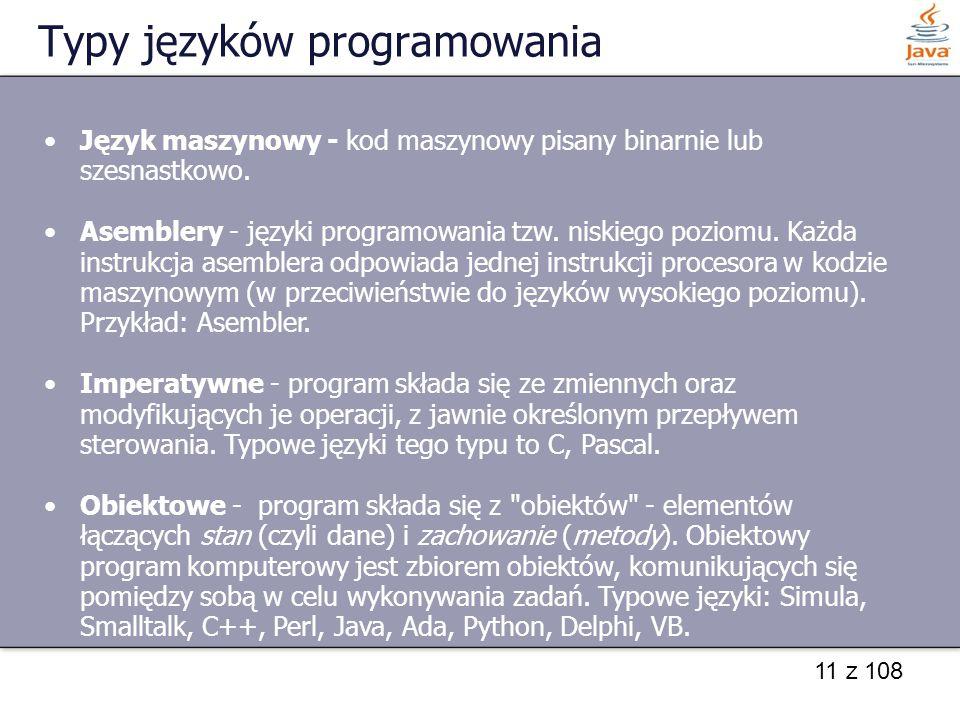 Typy języków programowania